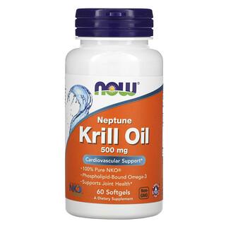 Now Foods, 海王星磷蝦油,500 毫克,60 粒軟膠囊
