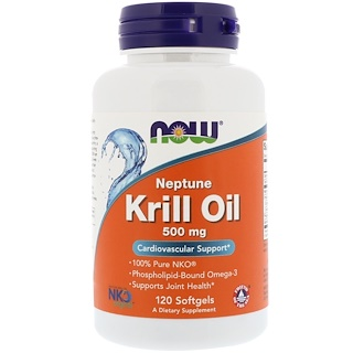 Now Foods, Neptune-Krillöl, 500 mg, 120 Softgelkapseln