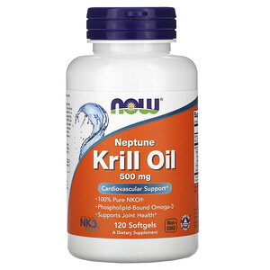Now Foods, Neptune Krill Oil, 500 mg, 120 Softgels отзывы покупателей