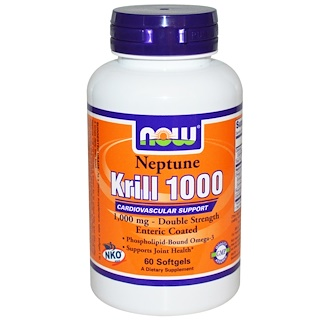 Now Foods, ネプチューン・クリル1000、ソフトジェル60錠