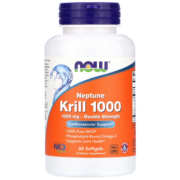 Neptune Krill 1000, Double Strength, 1,000 mg, 60 Softgels
