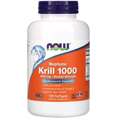 Купить Now Foods Криль Neptune 1000, 1000 мг, 120 мягких желатиновых капсул