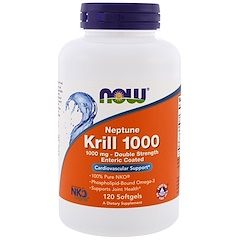 Now Foods, 넵튠 크릴 1000, 1000 mg, 120 소프트젤