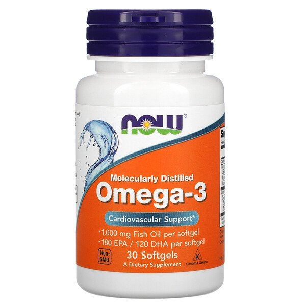Omega-3, Molecularly Distilled, 30 Softgels