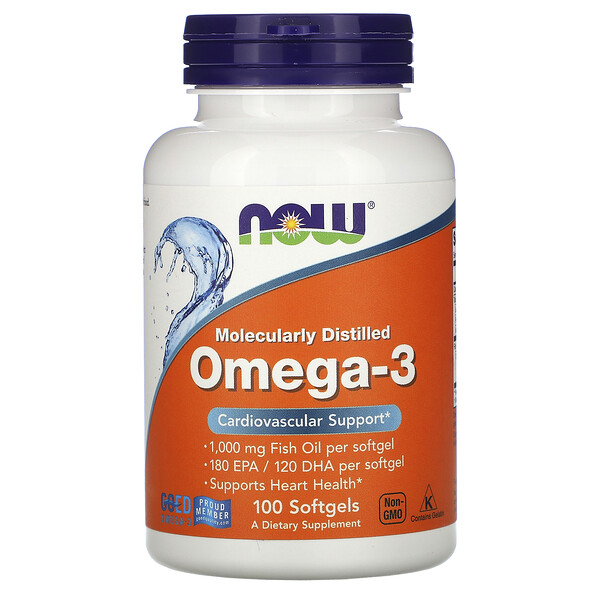 Molecularly Distilled Omega-3, 100 Softgels