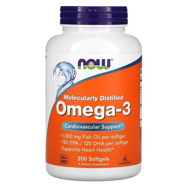 أوميغا 3 مُقطرة جزئيًا، 200 كبسولة هلامية