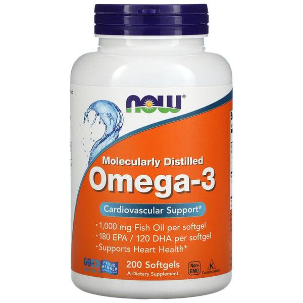 Molecularly Distilled Omega-3, 200 Softgels