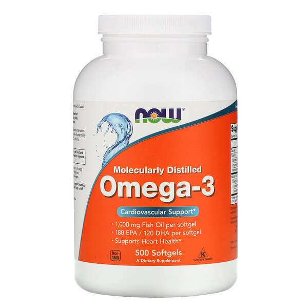 Molecularly Distilled Omega-3, 500 Softgels