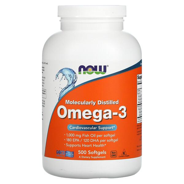 Molecularly Distilled Omega-3, 500 Softgels