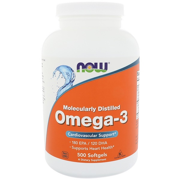 Now Foods, Omega-3, 180 EPA/120 DHA, 500 Softgels