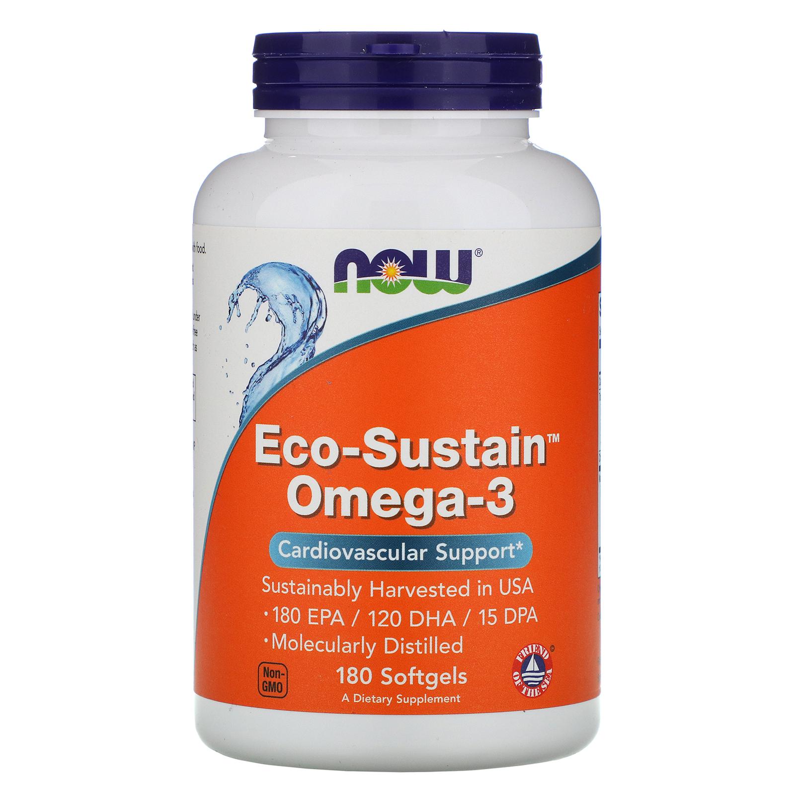 Now Foods, Eco-Sustain Omega-3, 180 мягких таблеток