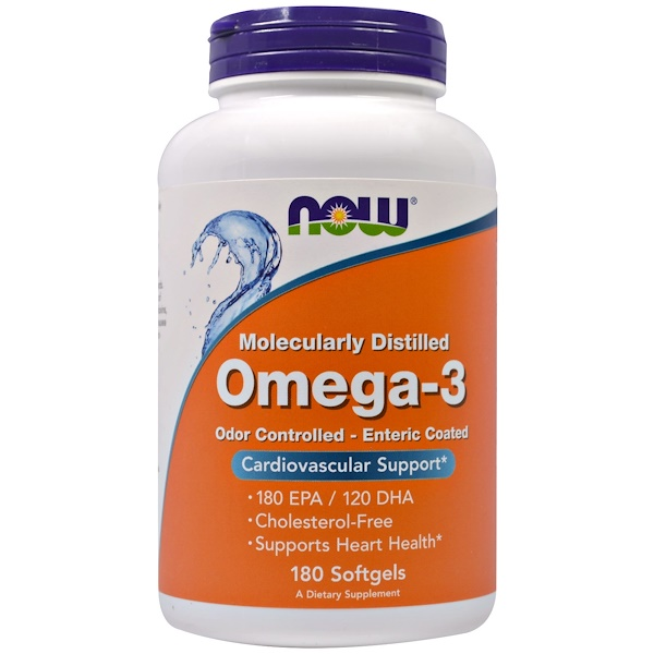 Now Foods, Omega-3, 180 EPA/120 DHA, 180 Softgels