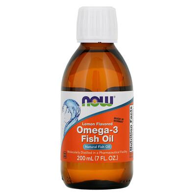 Омега-3 рыбий жир, со вкусом лимона, 7 жидких унций (200 мл)