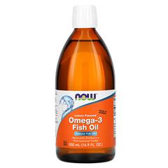 Now Foods, 歐米伽-3 魚油,檸檬味,16.9 液量盎司(500 毫升)