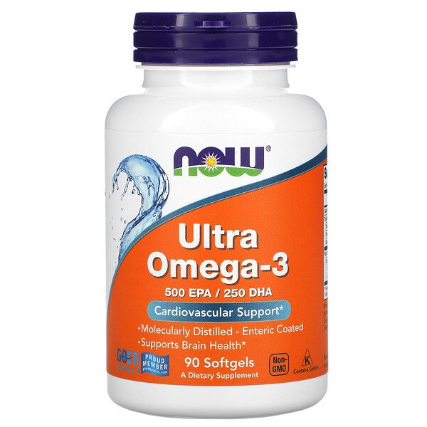 Now Foods, Ultra Omega-3, 90 Softgels