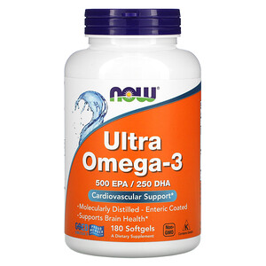 Now Foods, Ultra Omega-3, 180 Softgels отзывы покупателей