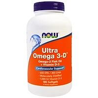 Ultra Omega 3-D, 180 желатиновых капсул - фото