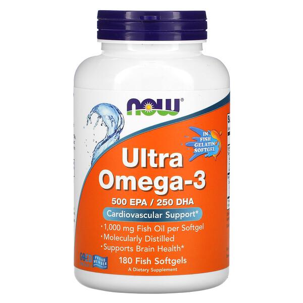 Ultra Omega-3, 500 EPA/250 DHA, 180 Fish Softgels
