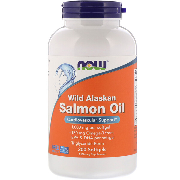 Wild Alaskan Salmon Oil, 200 Softgels