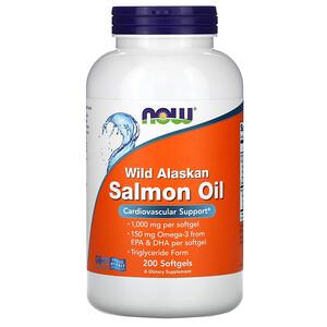 Now Foods, Wild Alaskan Salmon Oil, 200 Softgels отзывы покупателей
