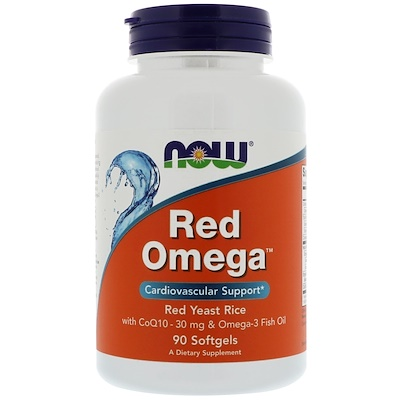 Red Omega, Red Yeast Rice with CoQ10, 30 mg, 90 Softgels цена