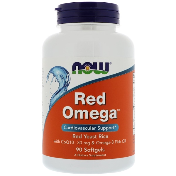 Now Foods, Red Omega, Red Yeast Rice with CoQ10, 30 mg, 90 Softgels