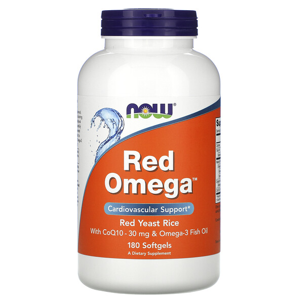 Red Omega, Red Yeast Rice with CoQ10, 30 mg, 180 Softgels
