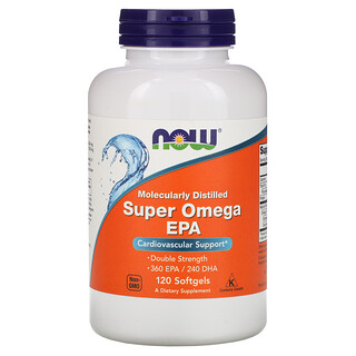 Now Foods, Super Omega EPA, Molecularly Distilled, 120 Softgels