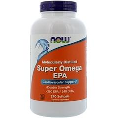 Now Foods, ЭПК Super Omega, очищенная на молекулярном уровне, 240мягких таблеток