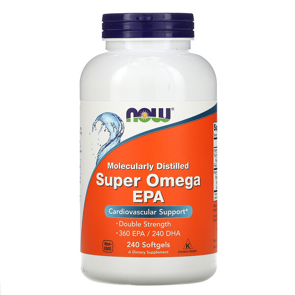 Molecularly Distilled Super Omega EPA,240 粒軟凝膠
