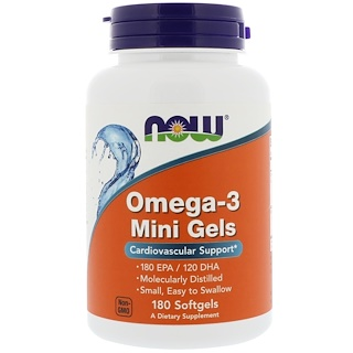 Now Foods, Omega-3 Mini Gels, 180 Softgels