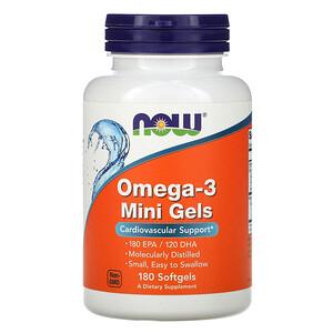 Now Foods, Omega-3 Mini Gels, 180 Softgels отзывы покупателей