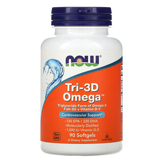Now Foods, Tri-3D Omega, 330 EPA/220 DHA, 90 Softgels