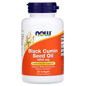 Now Foods, Black Cumin Seed Oil, 1,000 mg, 60 Softgels отзывы