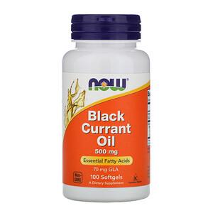 Now Foods, Black Currant Oil, 500 mg, 100 Softgels отзывы