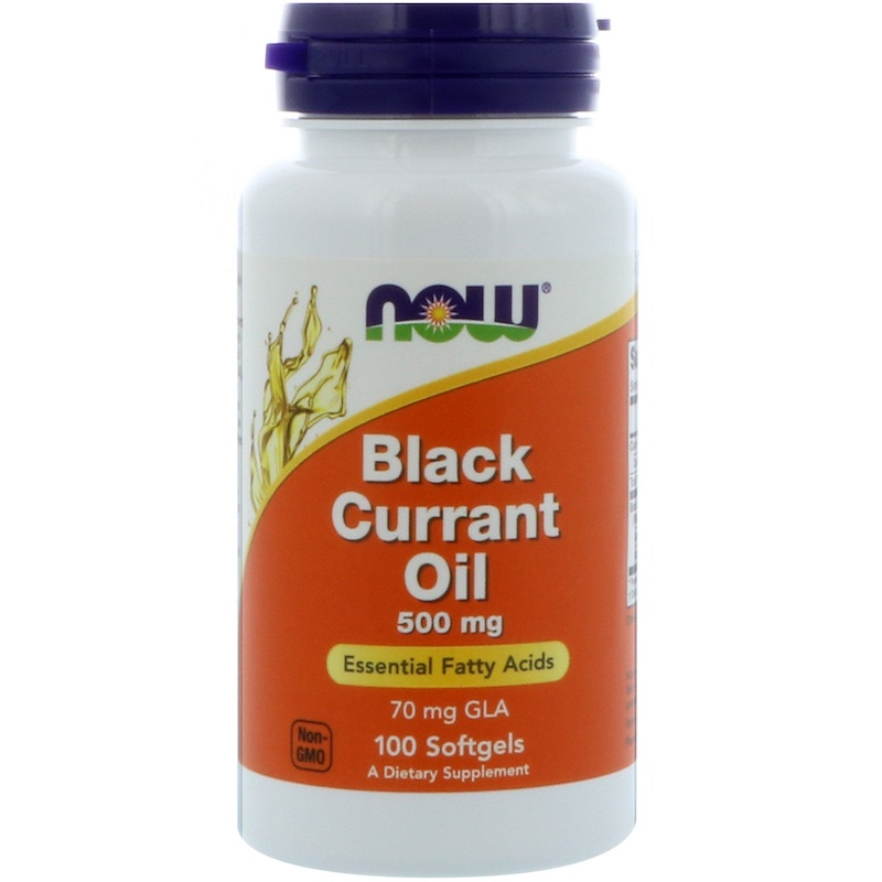 Black Currant Oil, 500 mg, 100 Softgels