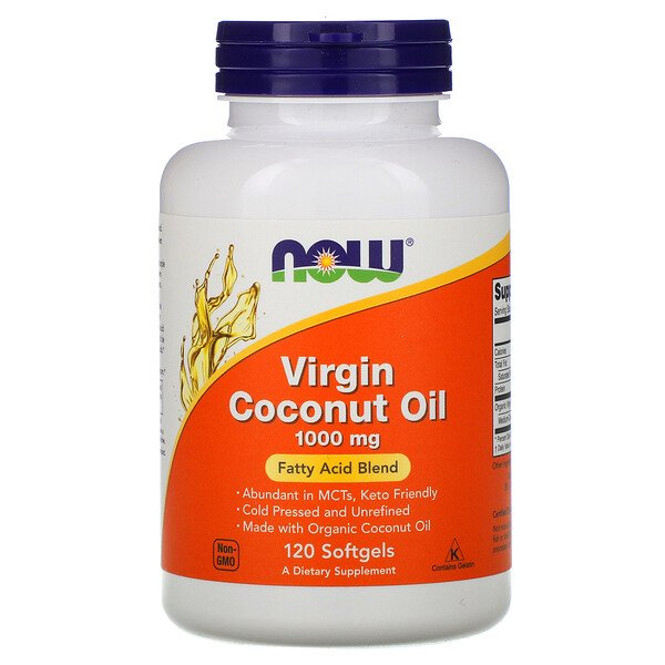 Now Foods, Virgin Coconut Oil, 1,000 mg, 120 Softgels