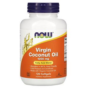 Now Foods, Virgin Coconut Oil, 1,000 mg, 120 Softgels отзывы покупателей