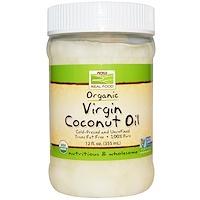 Органическое, кокосовое масло холодного отжима, 12 жидк. унц. (355 мл) - фото