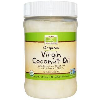 Now Foods, Органическое, кокосовое масло холодного отжима, 12 жидк. унц. (355 мл)