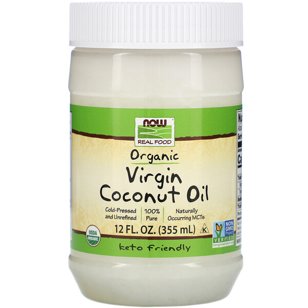 Real Food, Organic Virgin Coconut Oil, 12 fl oz (355 ml)