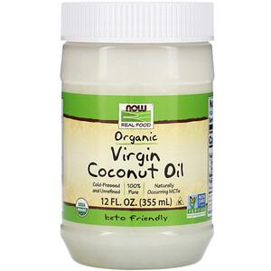 Now Foods, Real Food, Organic Virgin Coconut Oil, 12 fl oz (355 ml) отзывы