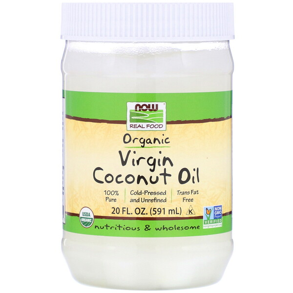 Real Food, Organic Virgin Coconut Oil, 20 fl oz (591 ml)