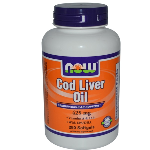 Now Foods, Cod Liver Oil, 425 mg, 250 Softgels (Discontinued Item)