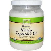 Органическое кокосовое масло первого отжима, 54 жидких унции (1,6 л) - фото