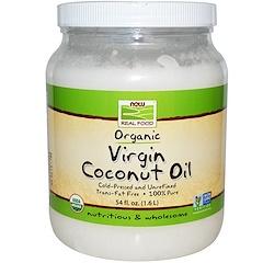 Now Foods, Real Food, Organic Virgin Coconut Oil, 54 fl oz (1.6 L)