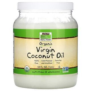 Now Foods, Biologisches Kokosnuss÷l, nativ, 54 fl oz (1,6 l)