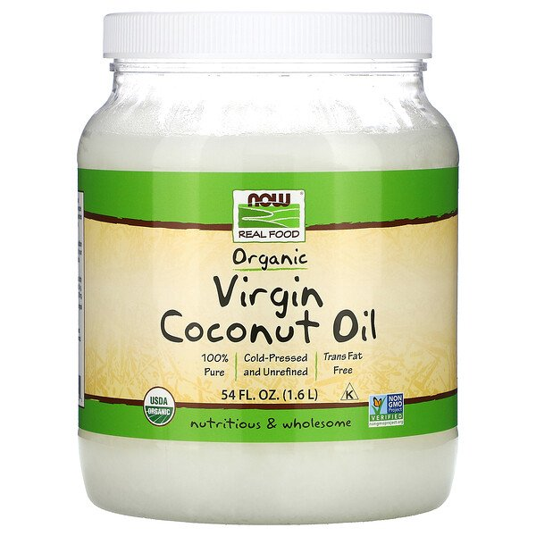 Real Food, Organic Virgin Coconut Oil, 54 fl oz (1.6 L)