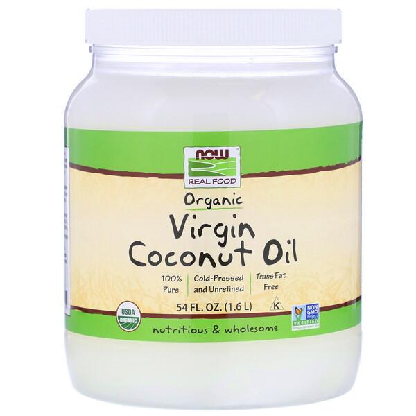 Real Food, Organic Virgin Coconut Oil, 54 fl oz (1.6 L)