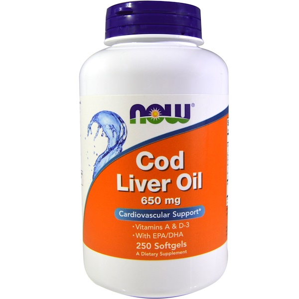 Now Foods, Cod Liver Oil, 650 mg, 250 Softgels